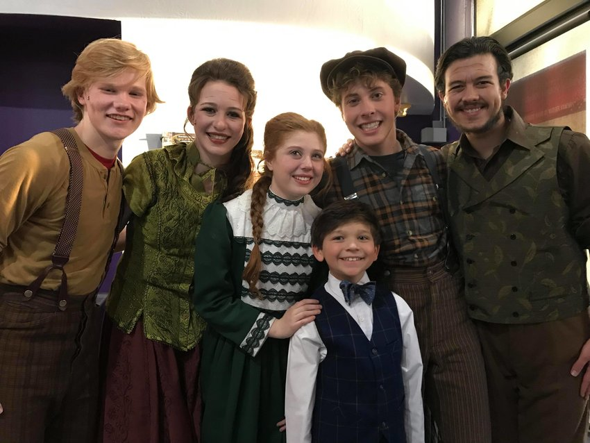 """Luca Grasso, center, with the cast of Valley Youth Theatre's """"Tuck Everlasting,"""" will be among the performers at VYT's annual fundrasier."""