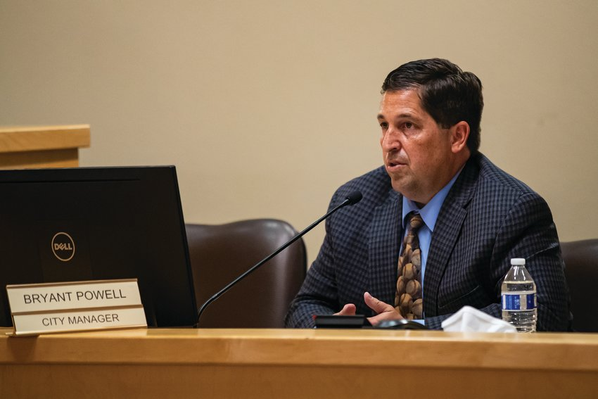 Bryant Powell at a recent Apache Junction City Council meeting.