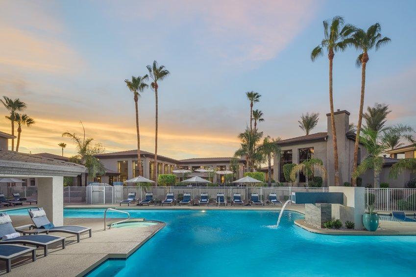 Elite North Scottsdale, which has 360 units, features a new resort-inspired swimming pool, dog park, and package locker system.