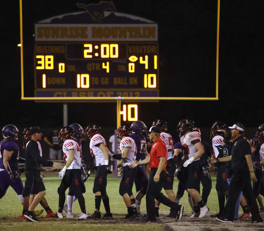 Liberty defeated Sunrise Mountain 41-38 in triple overtime Sept. 17.