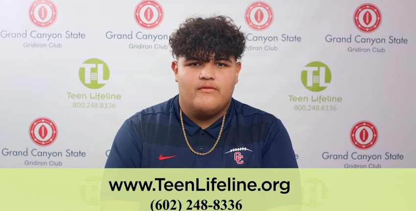 Centennial High School varsity football player Tony Servin is getting the word out about suicide prevention in a new public service announcement.