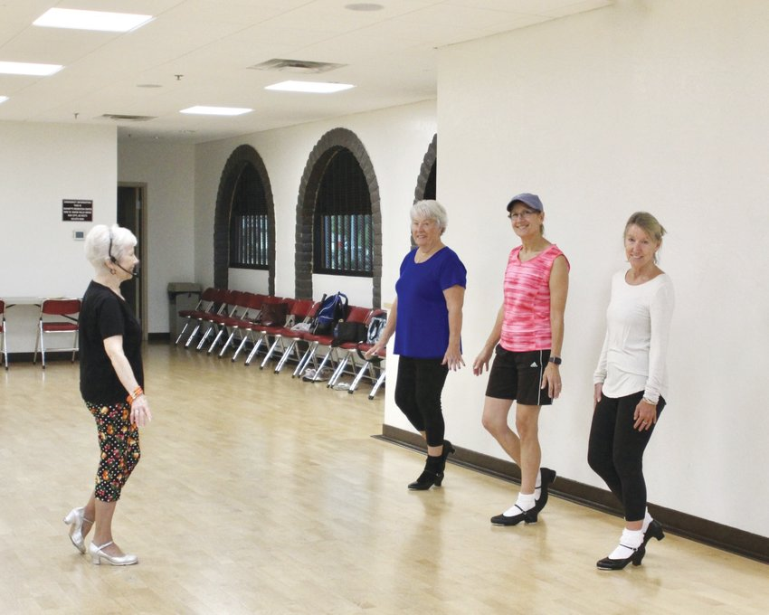 Pictured are Catherine Reel, Mary Springer, Cathy Jones and instructor Dallas Dickens. [Submitted photo]
