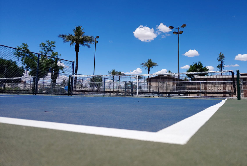 Elite Sports Builders, LLC recently constructed the pickleball court at Bonsall Park in Glendale (pictured).