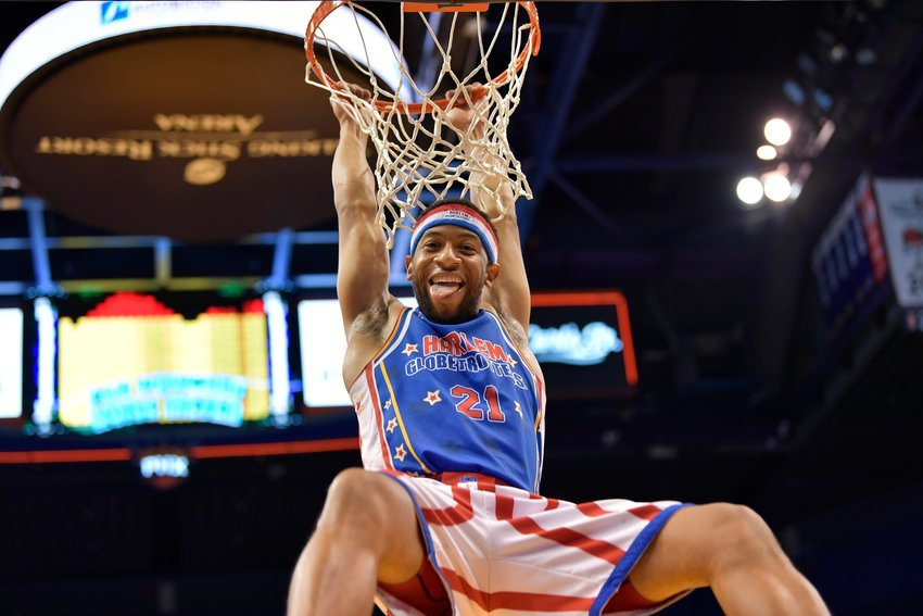 Lights Out Lee, one of the newest additions to the Harlem Globetrotters' roster of athletes and dribblers, earned his nickname with the team for his spot-on shooting accuracy.