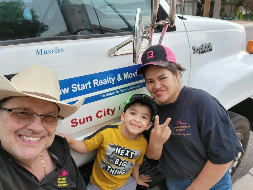 Kevin, Cory and Gemma Beasley are all smiles for the camera. The Beasleys run New Start Realty and Relocation, serving Surprise and Sun City.