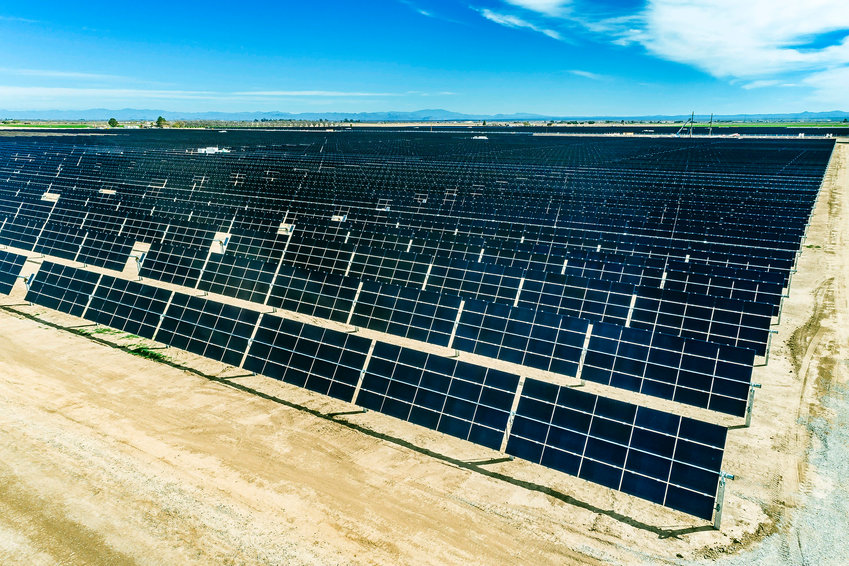 Drone photos of Pinal Central Solar Energy Center in Casa Grande, taken in 2018. Buckeye residents interested in energy reform have often pointed to the 295 average days per year of sunshine as to where to find more electricity. NextEra Energy Resources plans to take advantage of that sun by buiding a large solar energy gathering and storage facility.