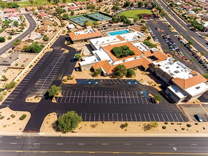 Phase one of the Kuentz Recreation Center, 14401 R.H. Johnson Blvd., parking lot project was completed Sept. 23.