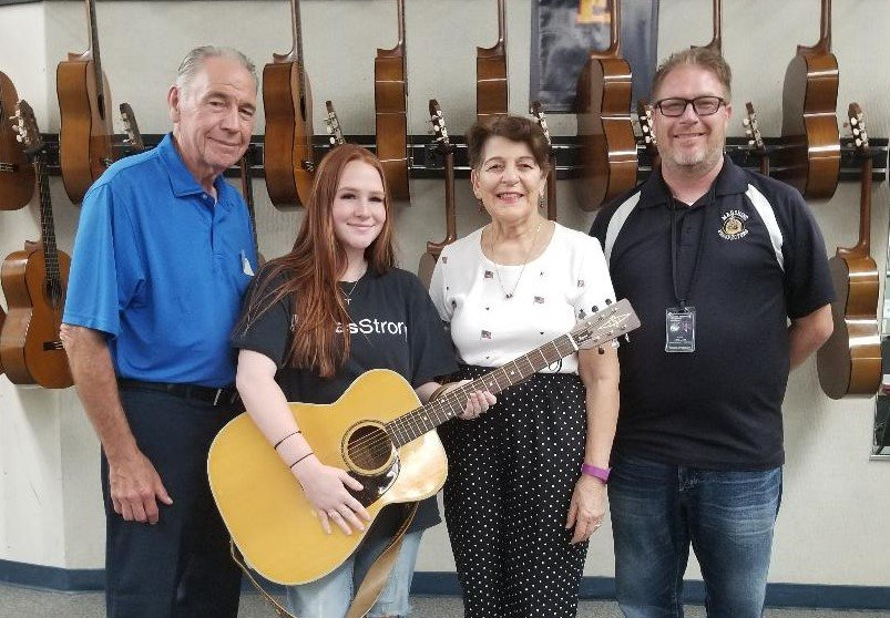 From left are Ray Cunningham, Riley Neumann, Barbara Cox and Karl Hermann.