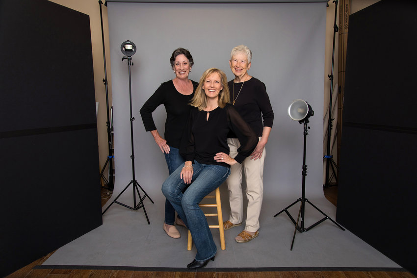 From left are Joyce Bobbit, Donna Weiss and Lynnda Haupert.