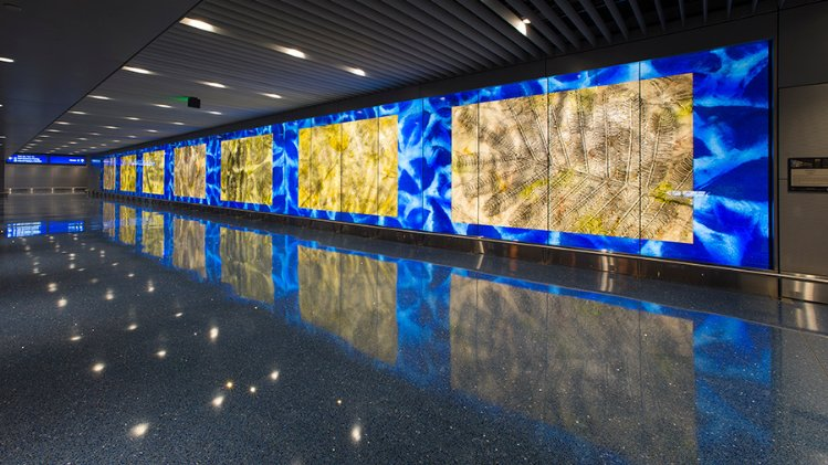 Public art, like this in the Phoenix Sky Harbor international Airport, often comes through state and federal grants.