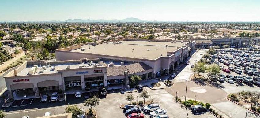 Built in 2001, the property at Ellsworth and Baseline roads is shadow anchored by Albertson's grocery store. Tenants include Subway, Simply Tan, American Family Insurance, The UPS Store, Supercuts and Mathnasium.