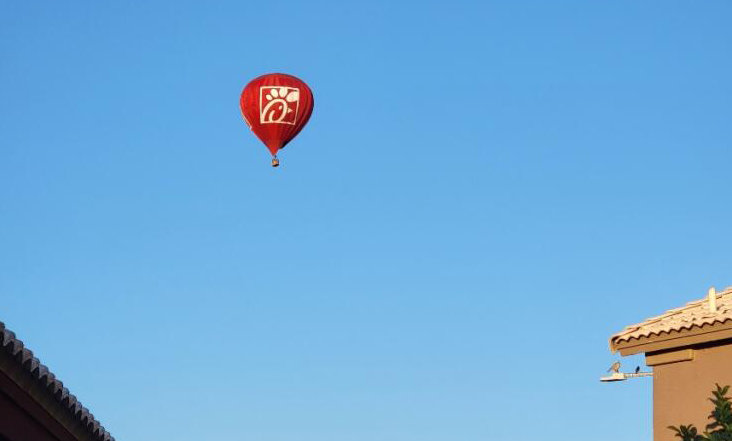 The Chick-fil-A hot air balloon will be among the attractions at the G.A.I.N. Night in Surprise Oct. 23