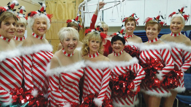 In back, from left, are Linda Patton, Dora Sextro, Billie Gordon and Barb Hadley; in front are Stephanie Rogall, Val Gitter, Gerry Zopf, Yvon Lamoreaux, Beth Noyes, Gina Elliott and Kari Trefilek. [Submitted photo]