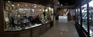 The exhibit-gallery at the Superstition Mountain Museum.