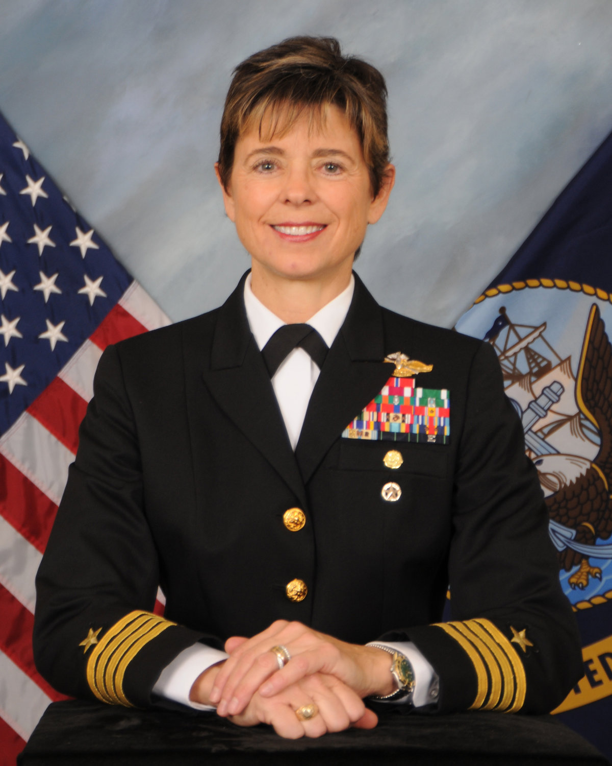 Capt. Candace Eckert, of Phoenix, supports and defends freedom around the world as a Navy Fleet Support Officer.