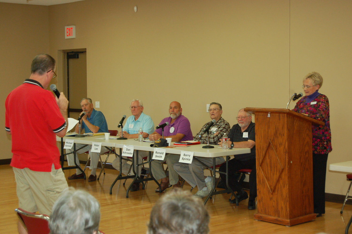 RCSC board candidates are questioned during a previous election.