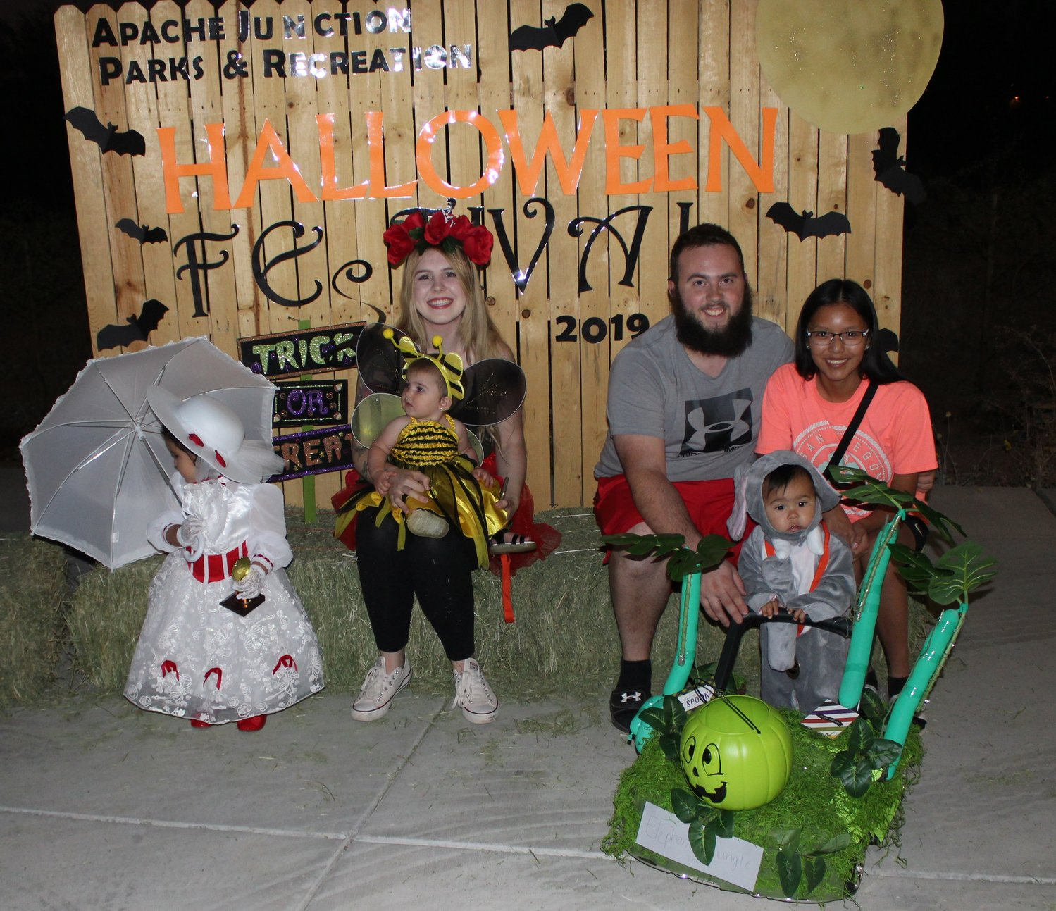 Age 2 and younger category winners at Apache Junction's 2019 annual Halloween festival were: First, Thaliya Celis-Lupeli; second,  Lydia Dempsey-Watchman; and third,  Emily Lake.