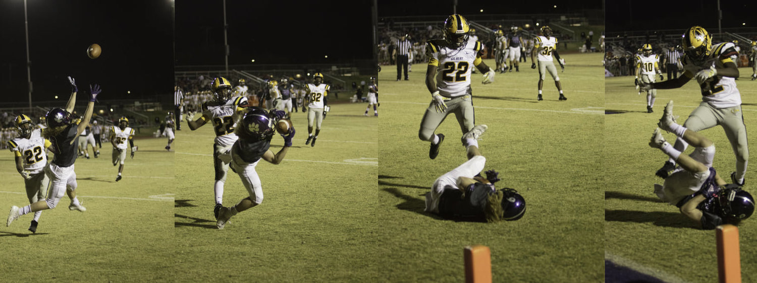 Kyle St Pierre catches a touchdown against Gilbert Nov. 8