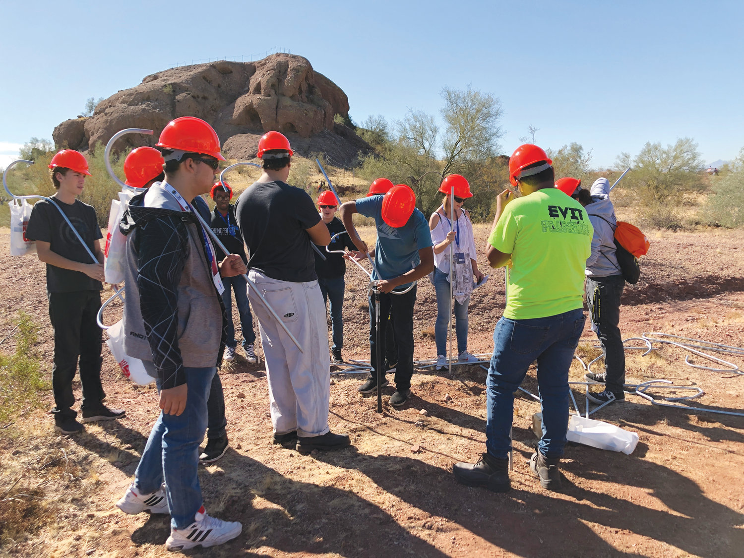 Nearly 3,500 students and 400 teachers from 130 schools and 12 counties attended Arizona Construction Career Days. [Submitted photos]