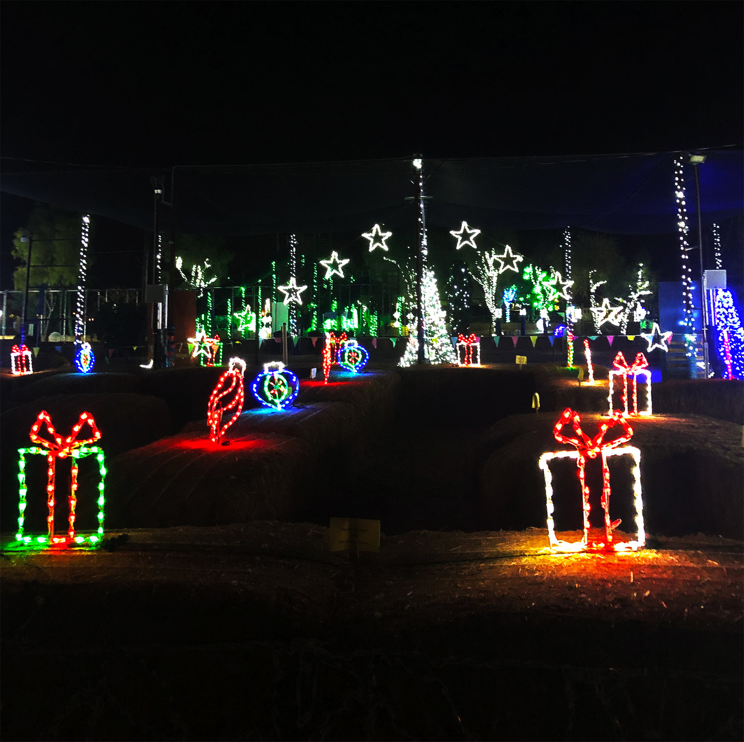 Each pre-lit prop, LED light strand and display at Lights at the Farm at Vertuccio Farm were strategically and methodically placed, according to a release.