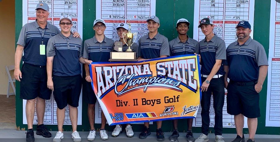 Members of the Higley Knights boy's golf team.