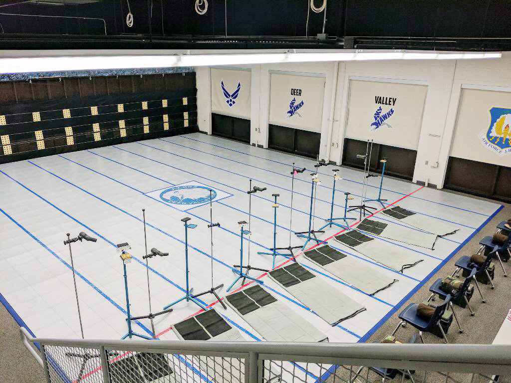 Deer Valley has nearly completed its air rifle facility for its Air Force Junior Reserve Officer Training Corps. [Submitted photo]
