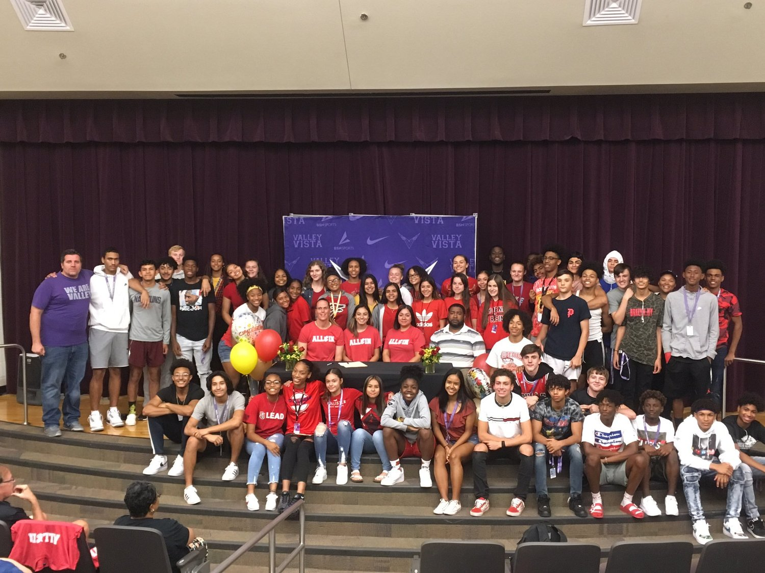 A large group turned out for Valley Vista senior guard Sophie Martinez's signing with Arizona Christian University in September.