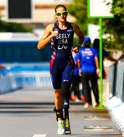 Allysa Seely placed second in September at the ITU Paratriathlon World Championships in Lausanne, Switzerland. [teamusa.org/Special to Independent Newsmedia]