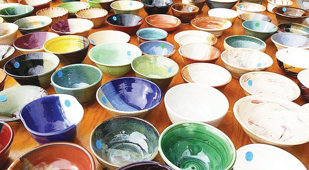 Hand-crafted artistic ceramic bowls, like those pictured here, will be sold to benefit West Valley charities at the WHAM Art Association's 6th Annual Bowls of Hope event 8 a.m. - 3 p.m. Saturday at the WHAM Community Art Center, 16560 N. Dysart Road, Surprise. [Courtesy of WHAM]