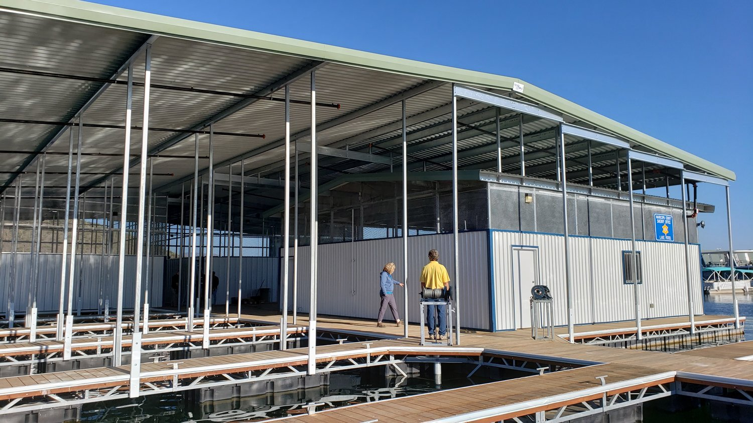 A new dock and boat house have been installed at Lake Pleasant.