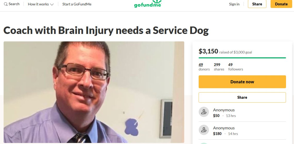 The GoFundMe account set up for Bill Howe, a former teacher and coach at Apache Trail High School in Apache Junction.