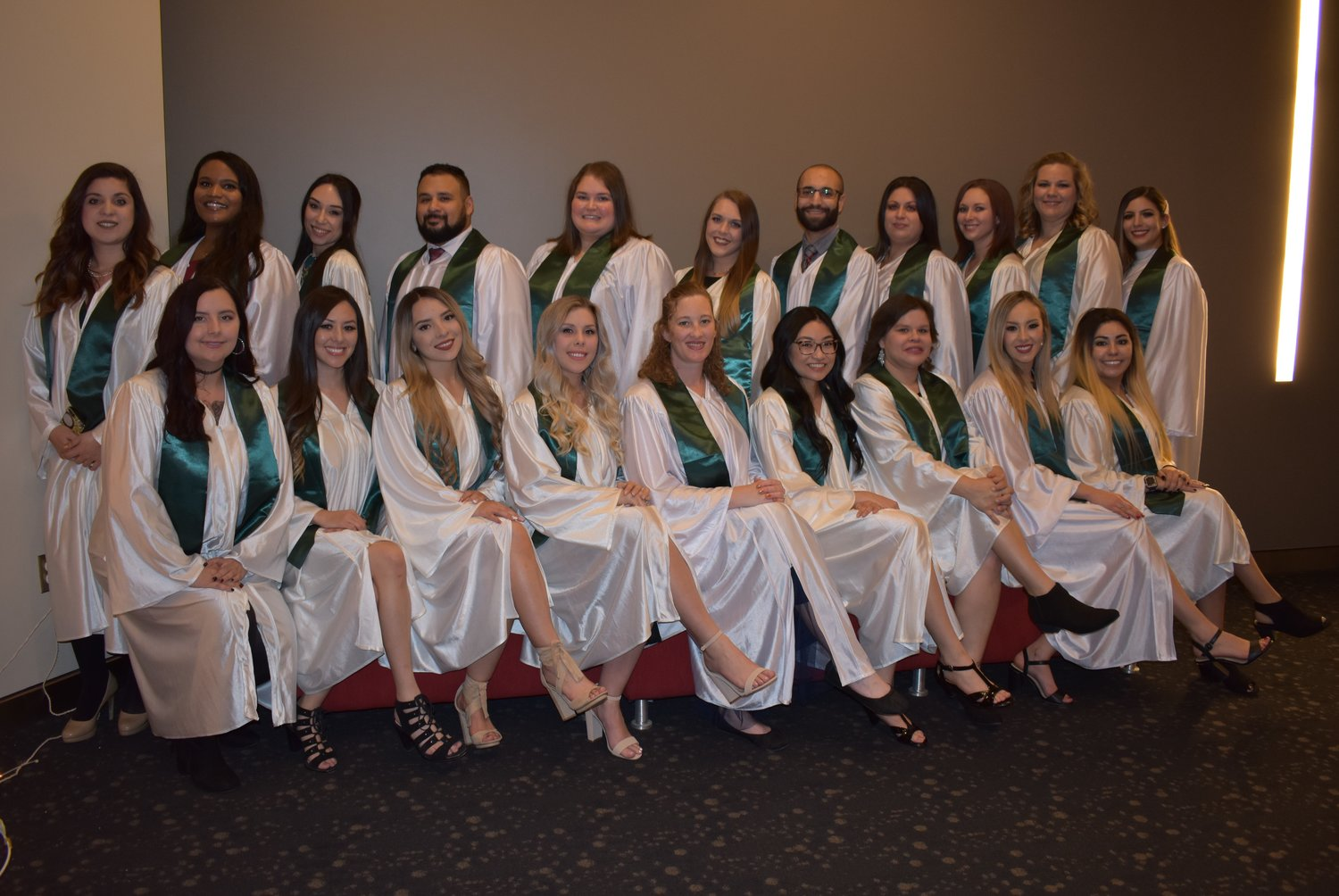 A view of the CAC nursing graduates who participated in the most recent pinning ceremony honoring their accomplishment.