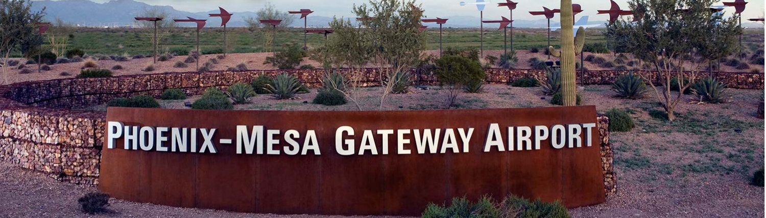 Phoenix-Mesa Gateway Airport is owned and operated by the Phoenix-Mesa Gateway Airport Authority. PMGAA consists of representation from Mesa, Gilbert, Queen Creek, Gila River Indian Community, Phoenix, and Apache Junction.