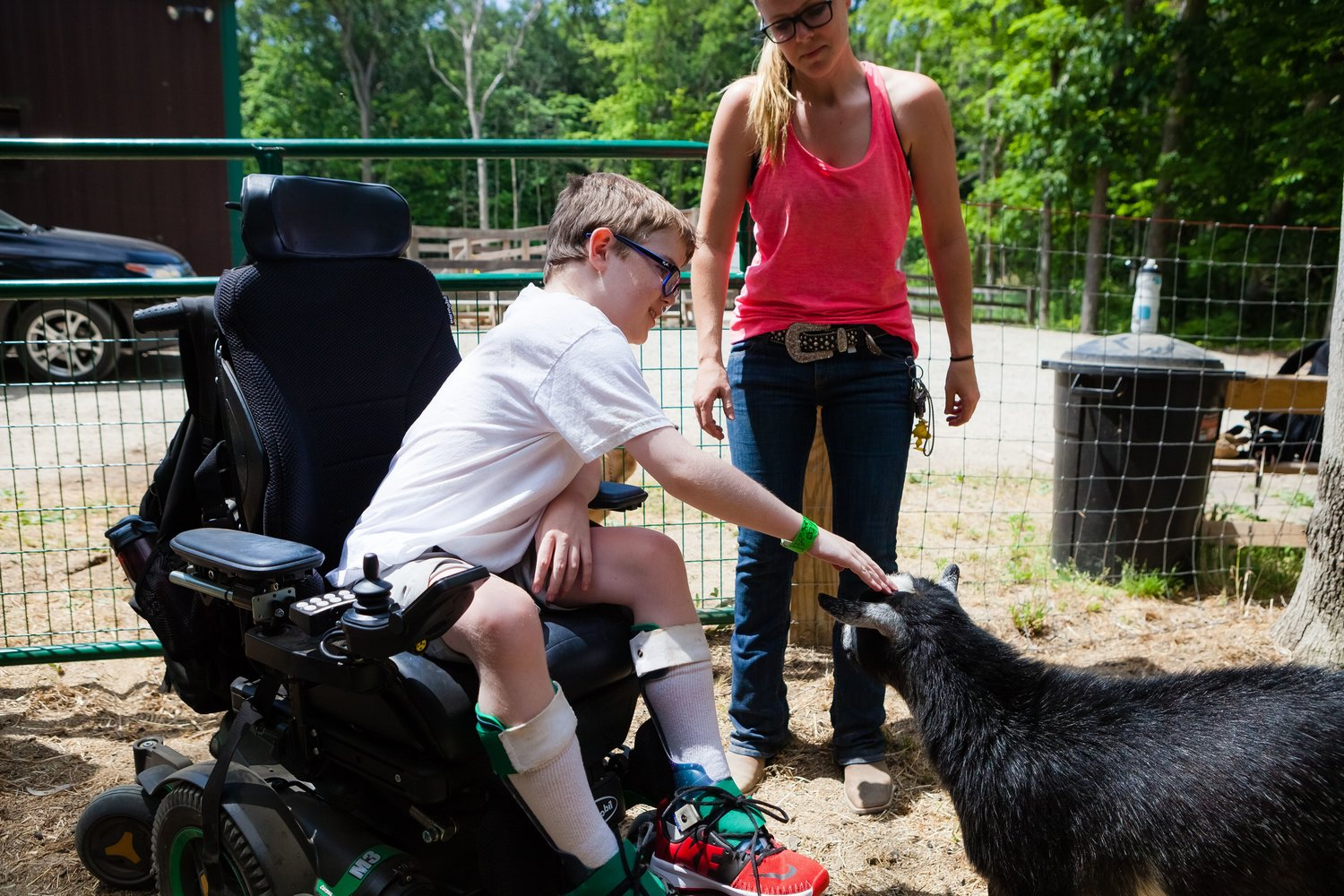 A view of the summer camp and youth outreach program where those dealing with muscular dystrophy can enjoy a camp experience free of charge.