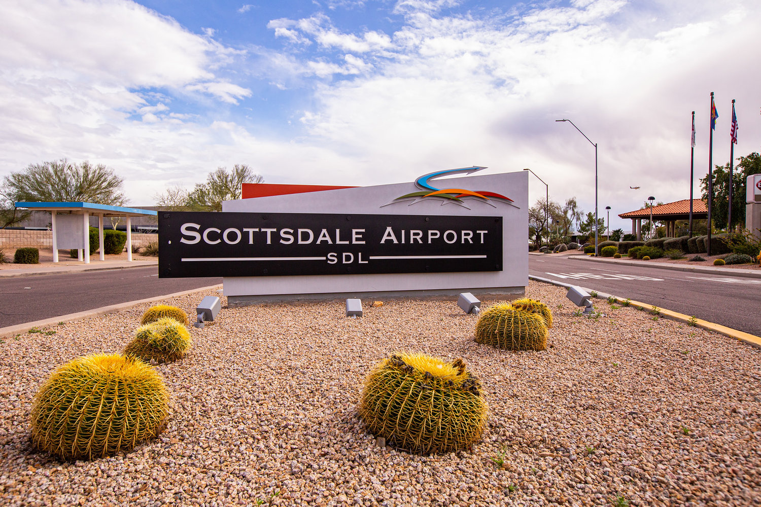 A view of Scottsdale Airport at 15000 N Airport Drive.