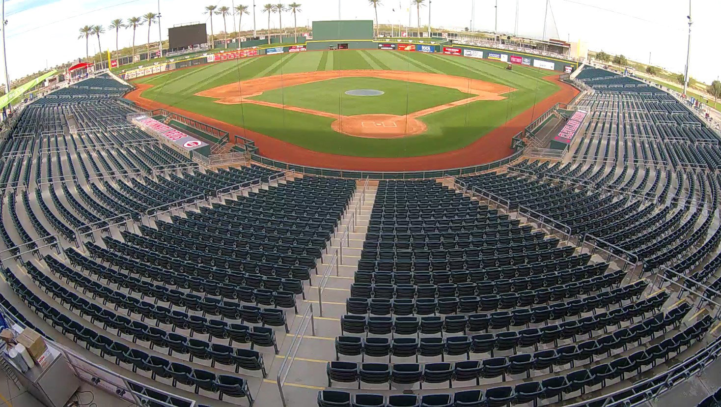 The view from the Goodyear Ballpark field camera the afternoon of Feb. 20.