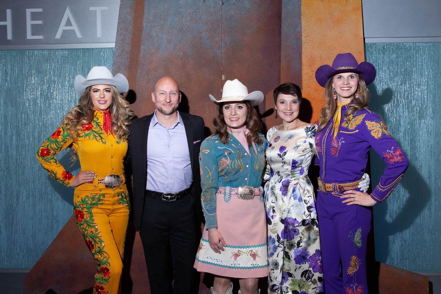 Cowgirls from the Cowgirl Historical Foundation with Joseph Specter, President and General Director of Arizona Opera, and the lovely and talented Kate Kinhan.