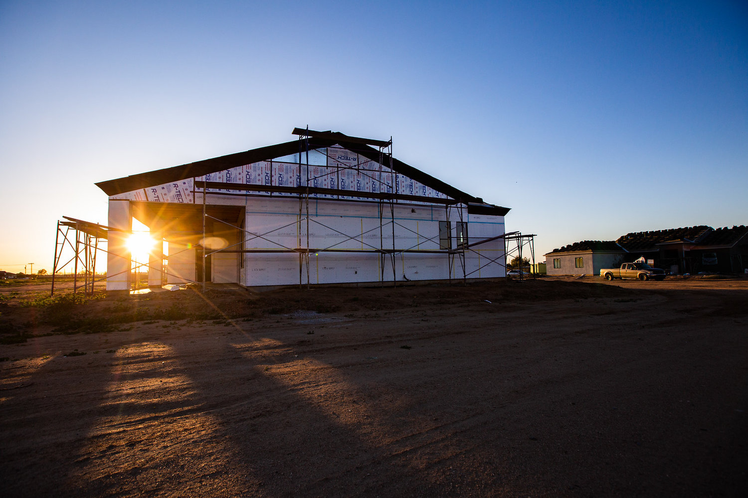 A view of a new home build in the East Valley of the Phoenix metropolitan area --- a place growing faster than anywhere else in the nation.