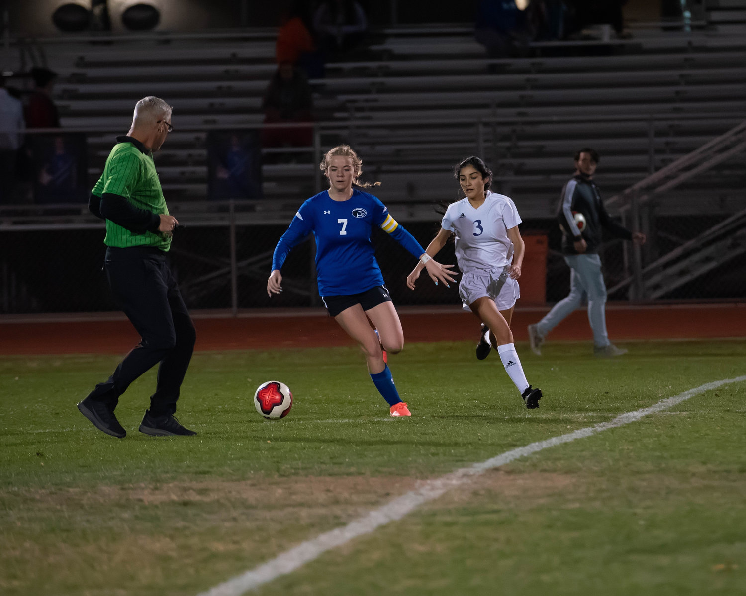 Paradise Honors senior midfielder Sierra Sweeney controls the ball near the top of the box in the Panthers' 6-1 victory over Sedona Red Rock in a 3A girls soccer play-in game Feb. 7 in Surprise.