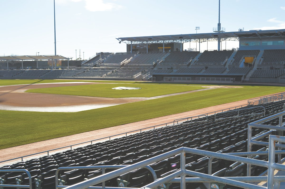Hohokam Stadium in Mesa hosted many state baseball playoff games in 2019, including the 3A and 4A finals. This May, the ballpark and others will be vacant since the school year and spring sports have been cancelled.