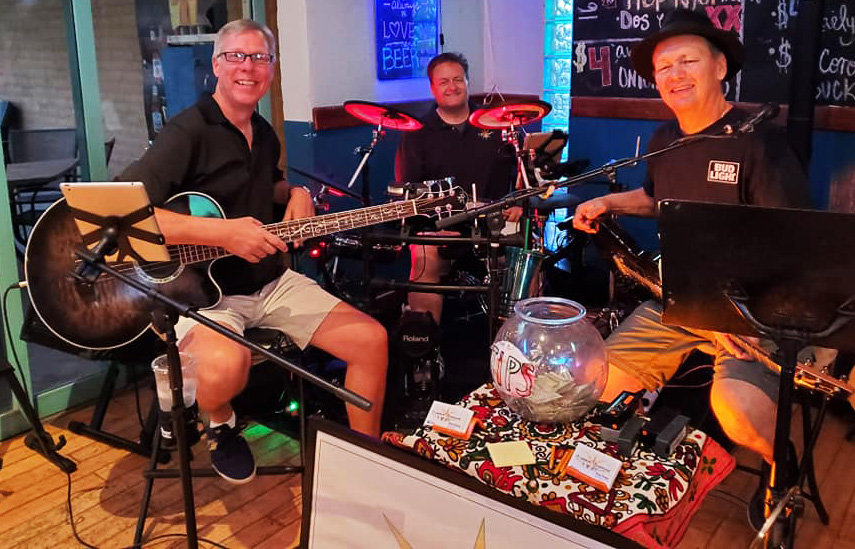 Mike Wehner, Keith Weaver and Greg Drejza, as Copper Sunrise, usually play around eight gigs a month, mostly across the Southwest Valley.