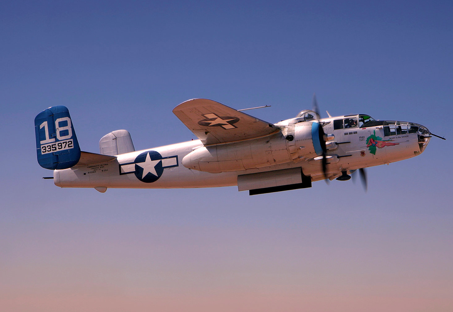 The Commemorative Air Force in Mesa is the home to World War II planes like this B-25. Photo from Commemorative Air Force website at azcaf.org.