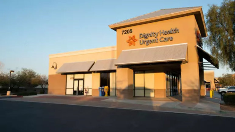 Dignity Health Urgent Care in Queen Creek, 7205 S. Power Road, according to locations.dignityhealth.org.