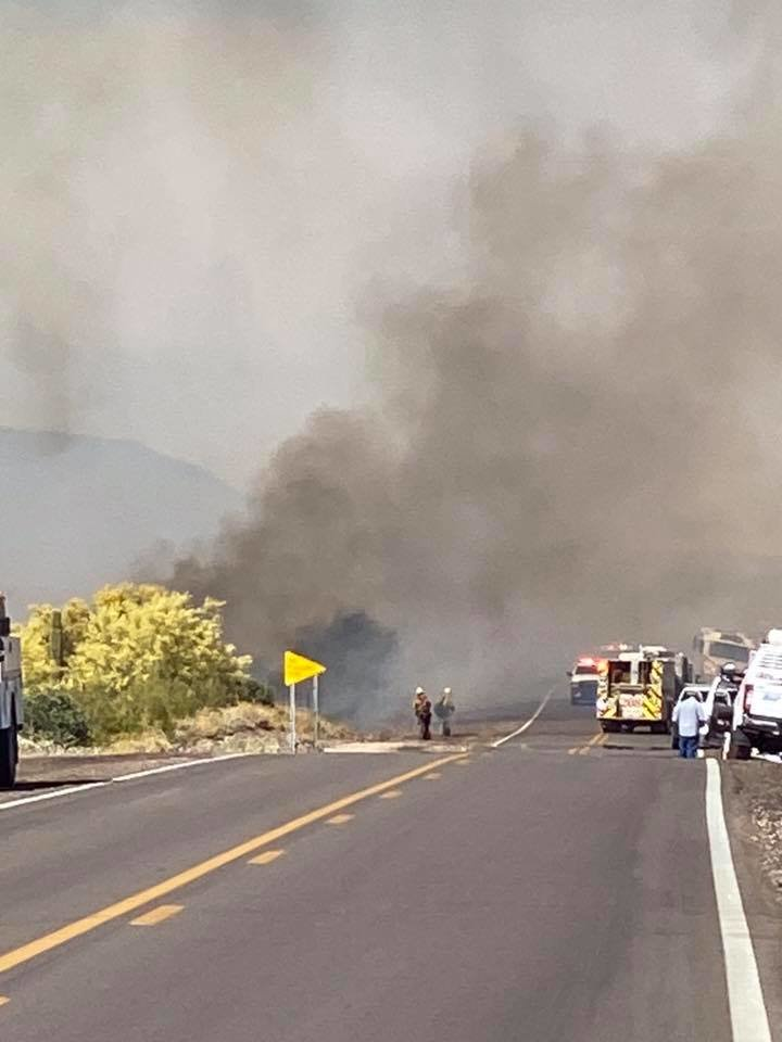 The fire started in the vicinity of Lost Dutchman Road and State Route 88.
