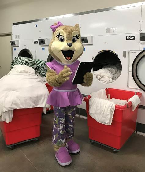 Great Wolf Lodge's donation of linens to Family Promise of Greater Phoenix included bath towels, hand towels, washcloths, bathmats, sheets and pillowcases.