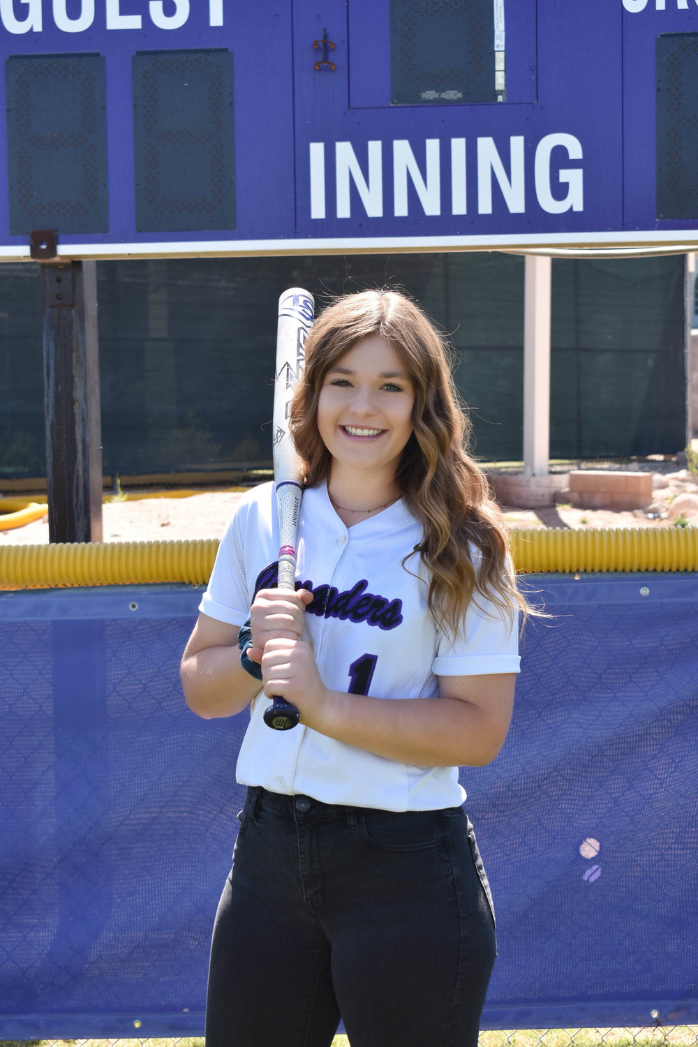 Northwest Christian senior Jordan Van Metre led the Crusaders' softball team in batting average, home runs and RBI.