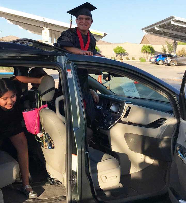 Liberty High School celebrated the Class of 2020 with a vehicle procession for seniors and their families through the Peoria campus.