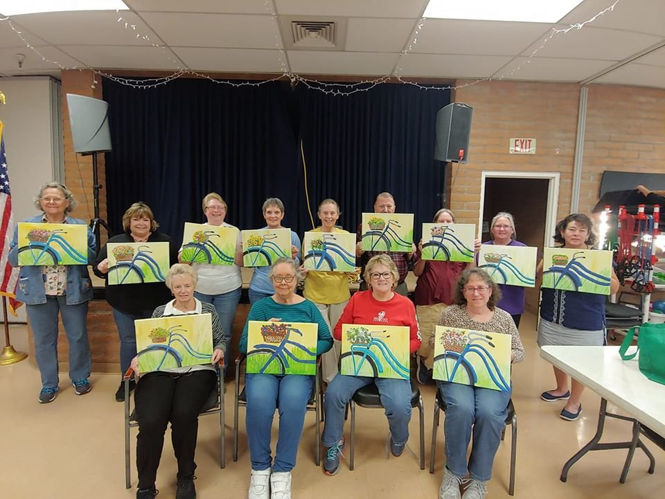 Buckeye Community Center, site of numerous activities including this Jan. 16 painting class for seniors, will remain closed until further notice.