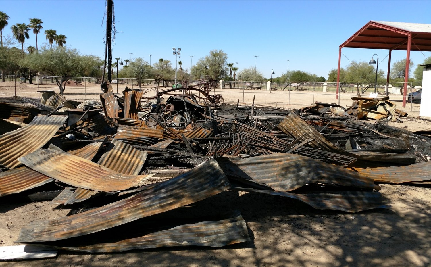 The stable/granary was one of several buildings at Glendale's Sahuaro Ranch Park destroyed in a fire in fall 2017. [Submitted photo/city of Glendale]