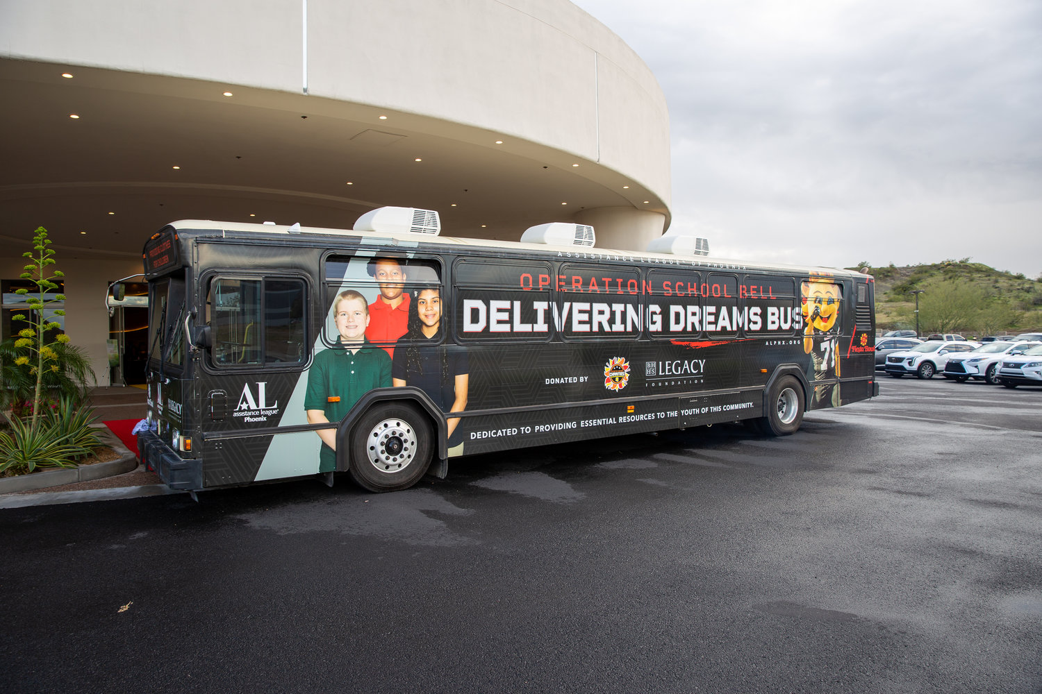 A view of the Delivering the Dream Bus, which is sponsored by Fiesta Bowl Charities and The Assistance League of Phoenix. For many who participate, the Dream Bus offers a shopping experience like no other.